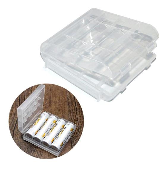 Kit 10 Unidades Case, Estojo Ou Porta Pilhas Aa / Aaa - 2 Cores De Cada