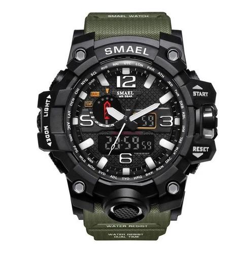 Relógio Militar Smael Analógico Shock Modelo 1545 Original