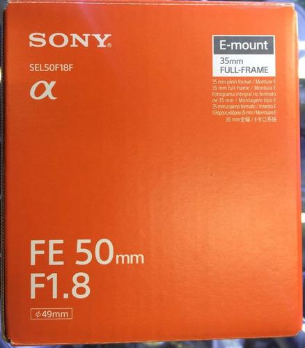 Lente Sony Fe 50 Mm F1.8,paga En 12cuotas, Entrega Inmediata