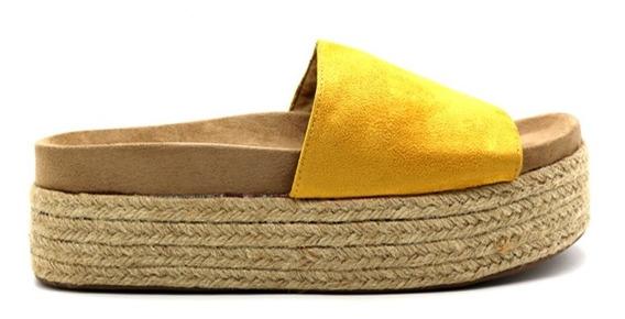 Zapatos Sandalias Mujer Dama Plataforma Amarillo Leblu Z146