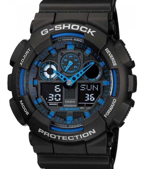Relógio Casio Masculino G-shock Ga-100-1a2dr Nota Fiscal
