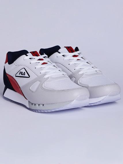 Tênis Esportivo Masculino Fila F-blazer Branco/vermelho/azul