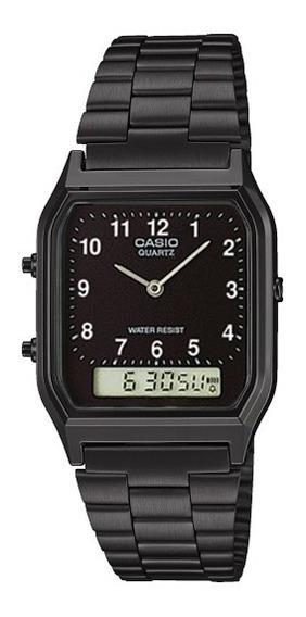 Relógio Casio Vintage Analógico Preto Aq230 Frete Grátis