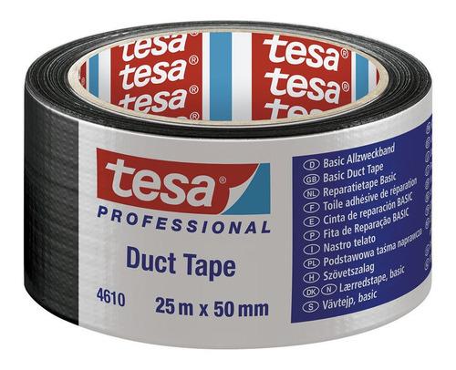 Cinta Multiusos Basic 25mx50mm Negra Tesa