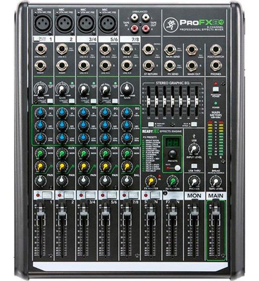 Mesa De Som Mackie 8 Canais Profx8v2 Pro Fx8 V2
