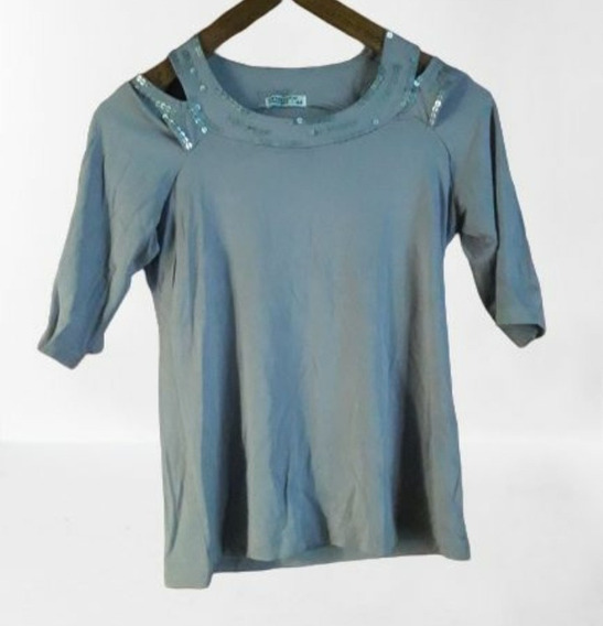 Remera Gris De Mujer Talle M