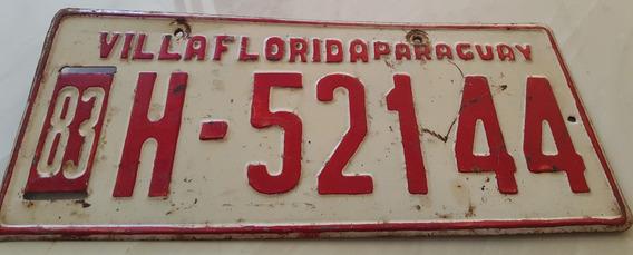 Placa Carro Antiga Ferro Original Villa Florida H52144