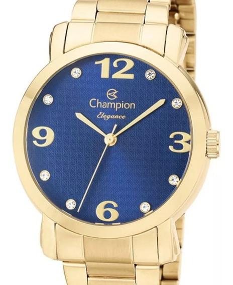 Relógio Champion Feminino Cn26279y Dourado + Nota