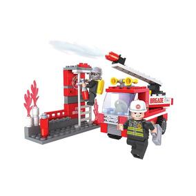 Brinquedo P/ Montar - Bombeiro Ação - 133 Peças