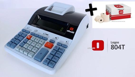 Calculadora Mesa Olivetti Logos804t Térmica Gratis Cx Bobina