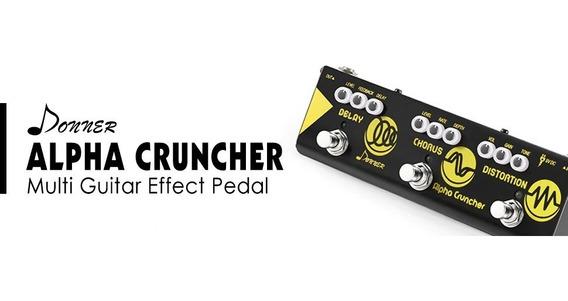 Pedal Mini Multiefeitos Para Guitarra Donner Alpha Series