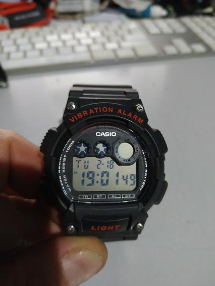 Relógio Casio W-735h Alarme Vibratório. Bateria 10 Anos