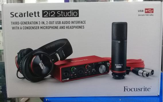 Interface Focusrite Scarlett Studio 2i2 De 3ra Generación