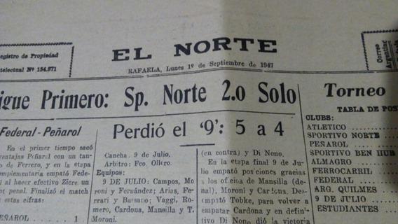 Recorte Diario/ Fútbol Rafaela/ Año 1947