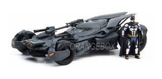 Batmóvel Liga Da Justiça + Figura Batman Em Metal Jada 1:24