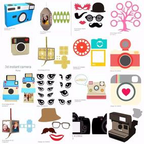 Silhouette Caixas Fotografia Camera Foto Instagram Moldes