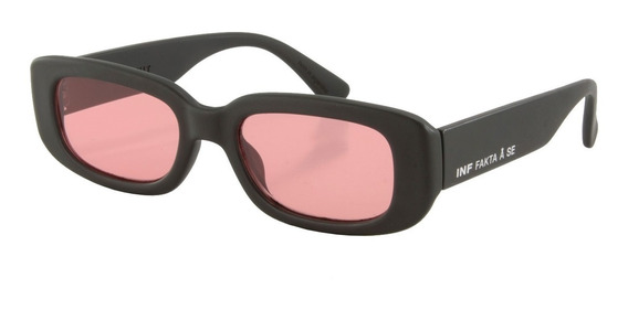 Anteojos Sol Infinit New York Negro Mate Lente Rosa Medium