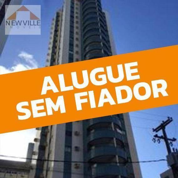 Apartamento Com 3 Dormitórios Para Alugar, 114 M² Por R$ 2.000,00/mês - Boa Viagem - Recife/pe - Ap0562