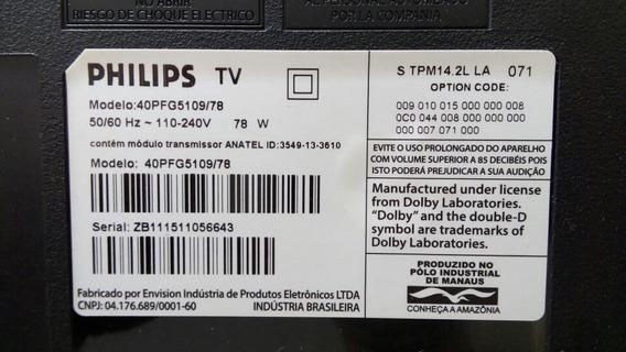 Alto Falante Tv Philips Modelo 40pfg5109/78.