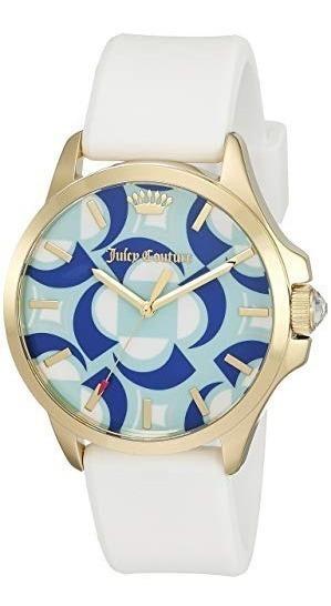 Reloj Juicy Couture Dorado Azul 1901427 38mm *jcvboutique*