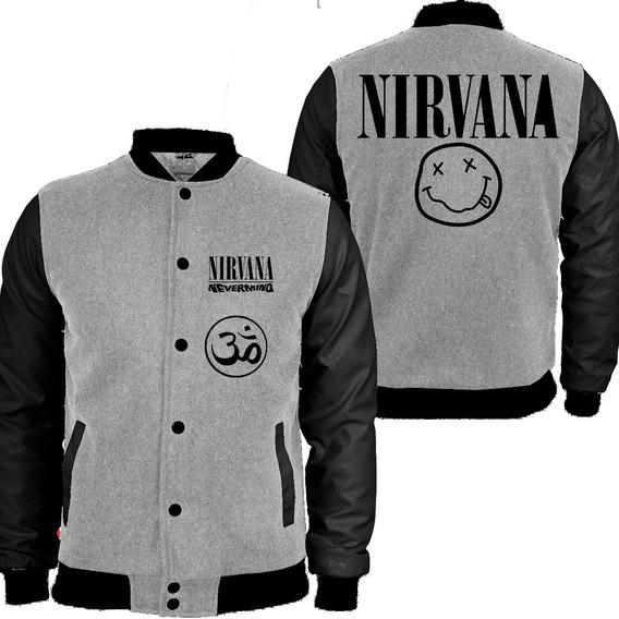 Casaco Moletom Nirvana College Blusa Moleton Rock Banda Md2
