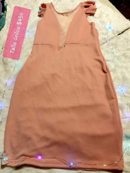 Vestido De Verano Nuevo, Talle Unico. Color Rosa Viejo.