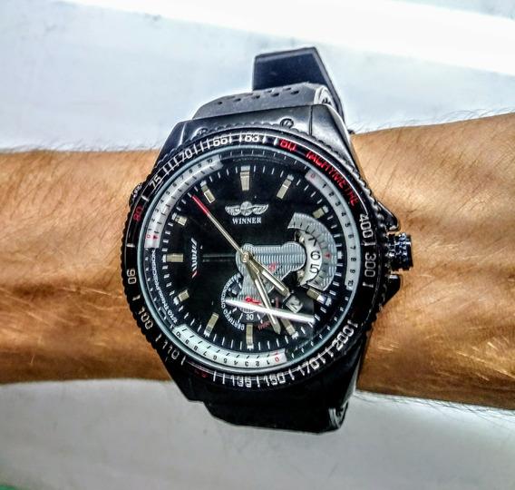 Relógio Winner Automático Em Perfeito Estado , Funcionando