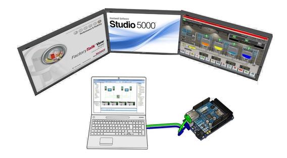 Plcduino Ethernet Allen Bradley, Plc Arduino Mega, Curso Hmi Plc, Domotica, Programacion Ladder Bloques Charts