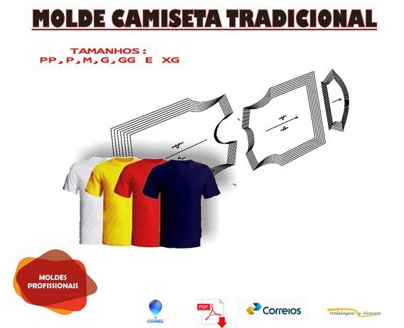 Molde De Camisetas Para Uniformes Envio Fisico, Corel Ou Pdf