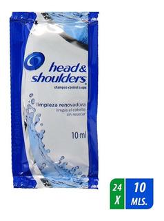 Shampoo Head&shoulders Limpieza Renovadora 24 Uni. De 10 Ml.