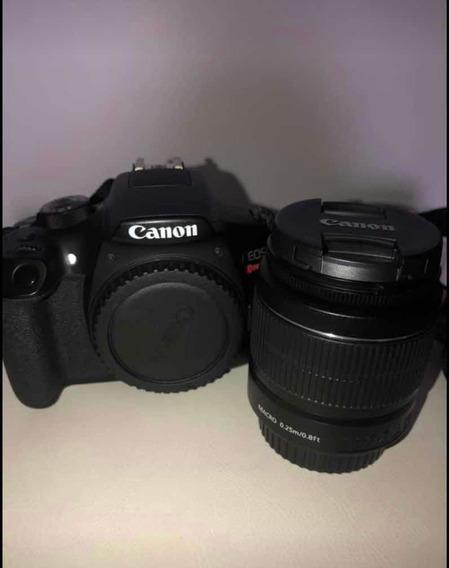 Canon Eos T6 + Lente 18-55mm Com Auto Foco