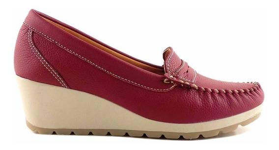 Mocasin Zapato Mujer Cuero Briganti Confort - Mcmo03629 Fl