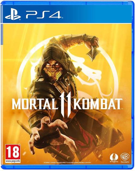 Jogo Mortal Kombat 11 Xl Ps4 Playstation 4 Disco Fisico Cd Original Novo Lacrado Português Dublado Nacional Promoção
