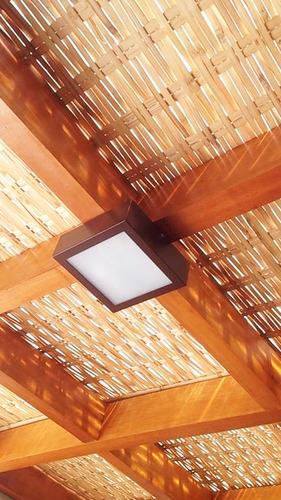 1 Placa 1x1,5 Forro De Bambu, Pergolados, Gazebos Lindo