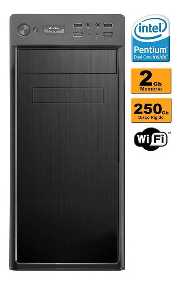 Cpu Desktop Dual Core 2.0 2gb Hd 250gb Gravador Wi-fi