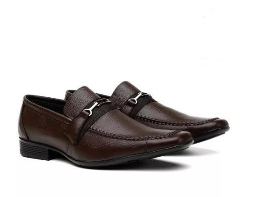 Sapato Masculino Social Couro Legítimo Com Carteira E Frete