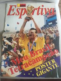 Revista Manchete Esportiva - Poster - Brasil Tetra Campeão