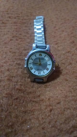 Reloj Citizen Dama Azteca Excelente Original Eco Dorado Usad