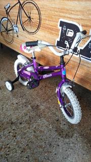 Bicicleta Rod. 12 Dama Aluminio C/rayos Y Cub. C/cámar C/eg