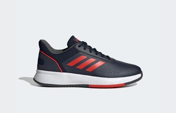 Tênis adidas Court Smash Azul Marinho E Vermelho