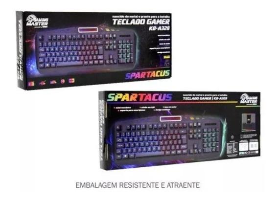 Teclado Gamer Spartacus Semi Mecanico Kb-a328 K-mex