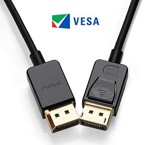 Infinport Displayport 12 Cable 4k 60hz 1440p 144hz Adaptable