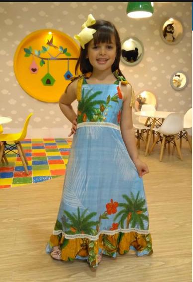 Vestido Longo Blogueirinha / Tam 6 / Tam 8