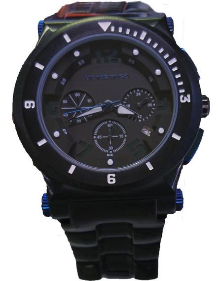 Relógio Victor Hugo Mostrador Preto - Vh10064gsb/02m