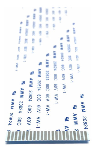Imagen 1 de 4 de Cable Flex Membrana Plano Flexible 22 Pines 1 Metro A W M