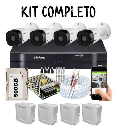 Imagem 1 de 1 de Kit 4 Câmeras Cftv Intelbras