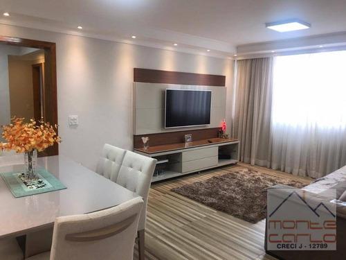 Apartamento Com 2 Dormitórios À Venda, 90 M² Por R$ 415.000,00 - Parque Terra Nova - São Bernardo Do Campo/sp - Ap0872