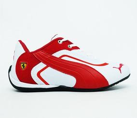 Kit 10 Tênis Puma Ferrari New Vermelho E Branco