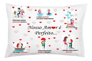 Capa Fronha De Travesseiro Personalizada Namorados Amor Love