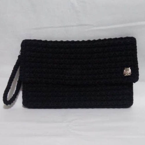 Clutch Preto Com Aplique